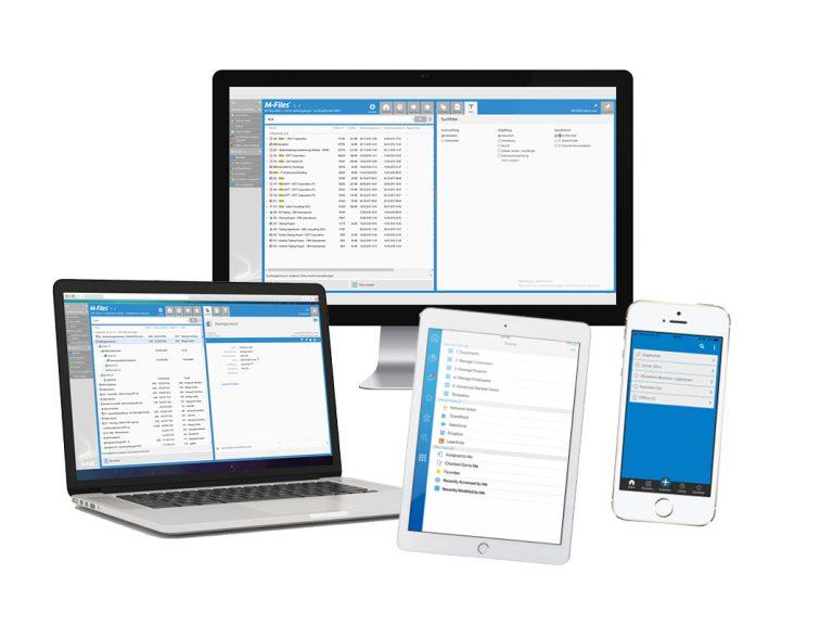 M-Files Online auf verschiedenen Geräte