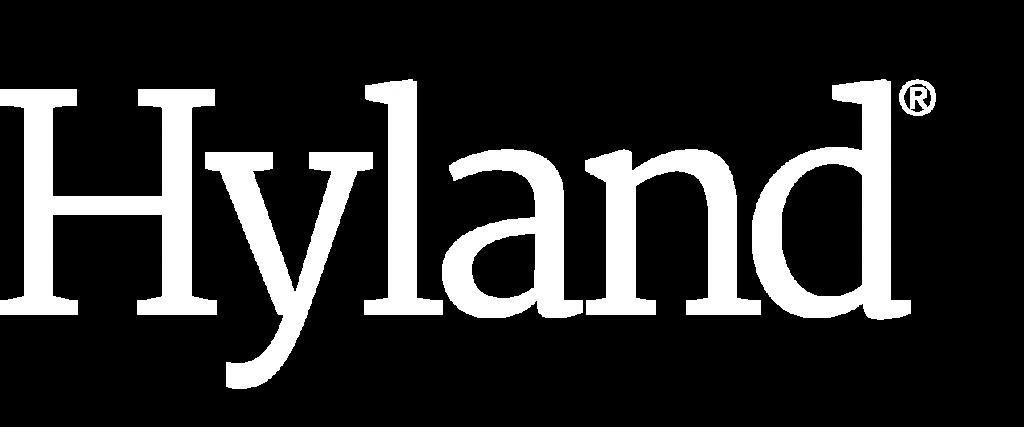 Hyland Logo weiß