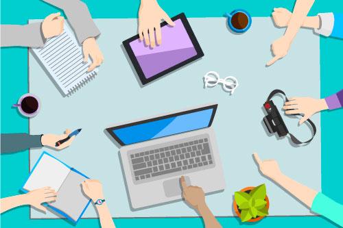 Einfache Zusammenarbeit an Dokumenten