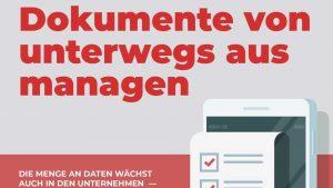 Blogartikel - Dokumente von unterwegs aus managen - mit Infografik