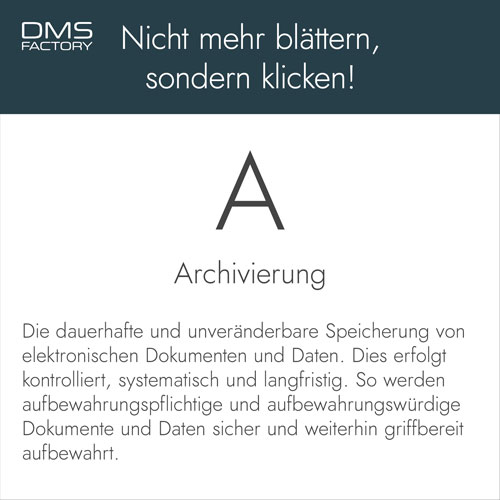Glossar: Archivierung