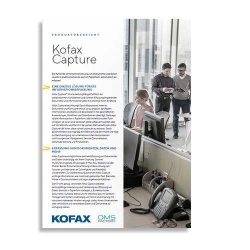 Kofax Capture Produktinformation