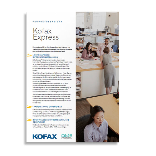 Kofax Express Produktinformation