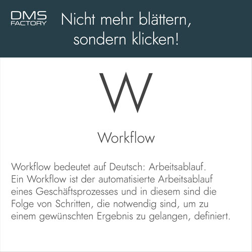 Glossar: Workflow