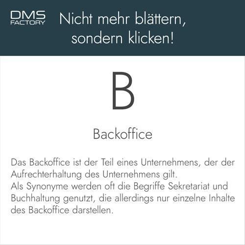 Glossar: Backoffice