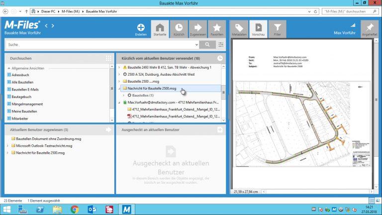 Lageplan in der digitalen Bauakte
