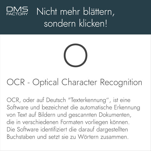 Glossar: OCR - Optical Character Recognition