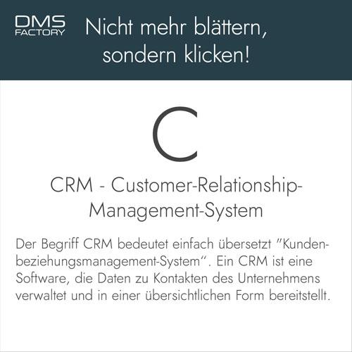 Glossar: CRM - Customer-Relationship-Management-System