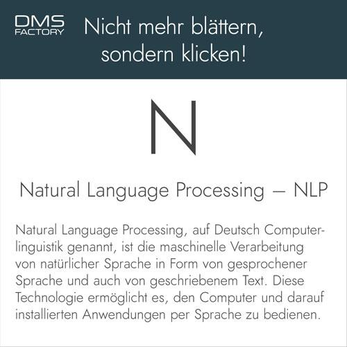 Glossar: Natural Language Processing - NLP