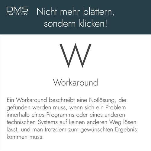 Glossar: Workaround