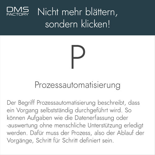 Glossar: Prozessautomatisierung