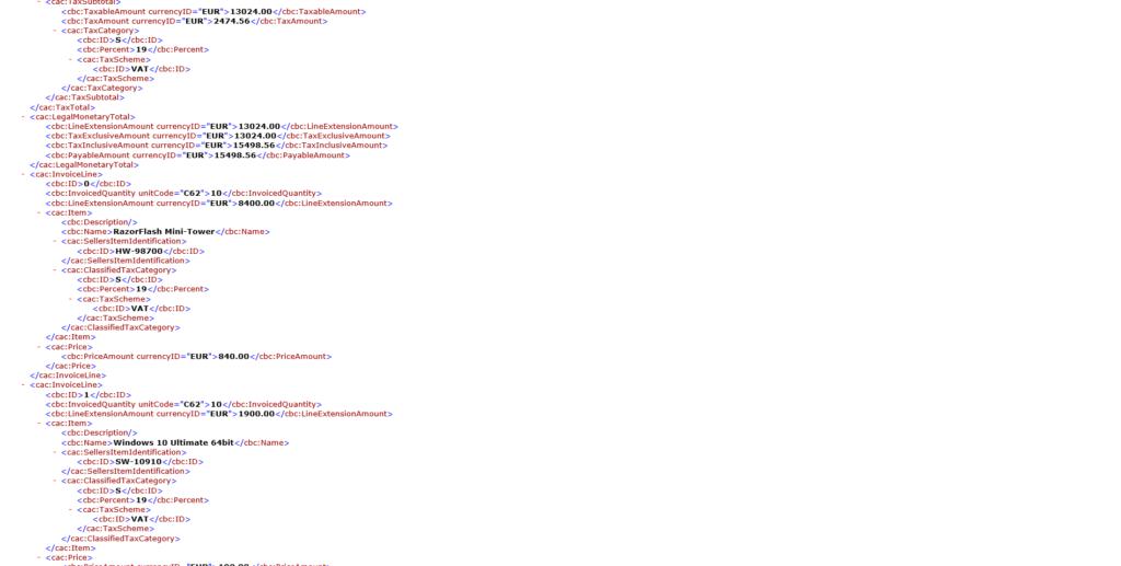 XRechnung XML-Datei