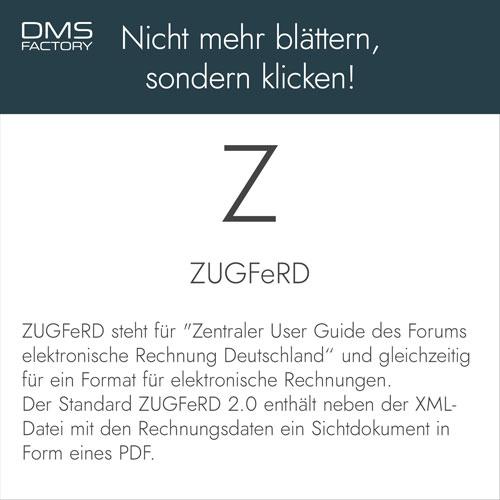 Glossar: ZUGFeRD