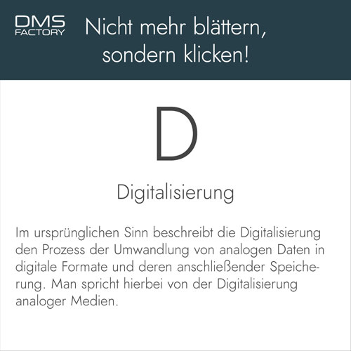 Glossar: Digitalisierung