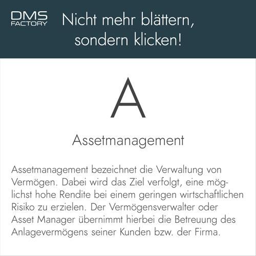 Glossar: Assetmanagement