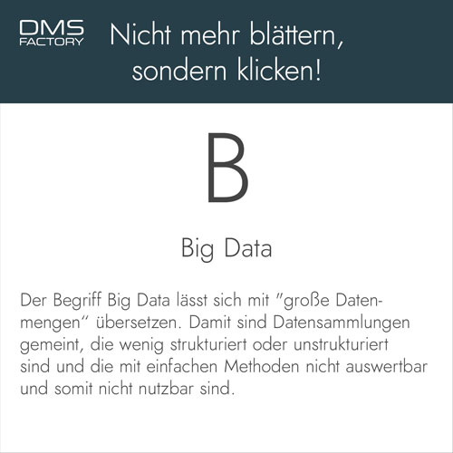 Glossar: Big Data