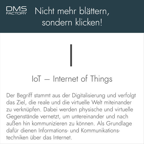 IoT Internet of Things - Glossar