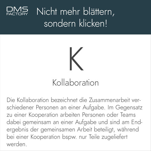 Glossar: Kollaboration