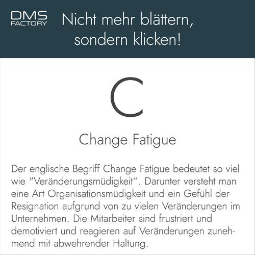 Glossar: Change Fatigue