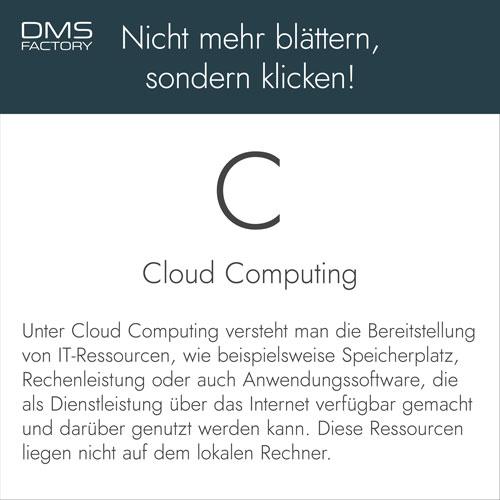Glossar: Cloud Computing