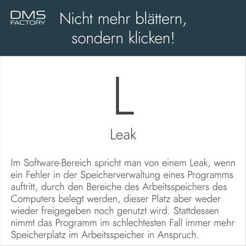 Glossar: Leak
