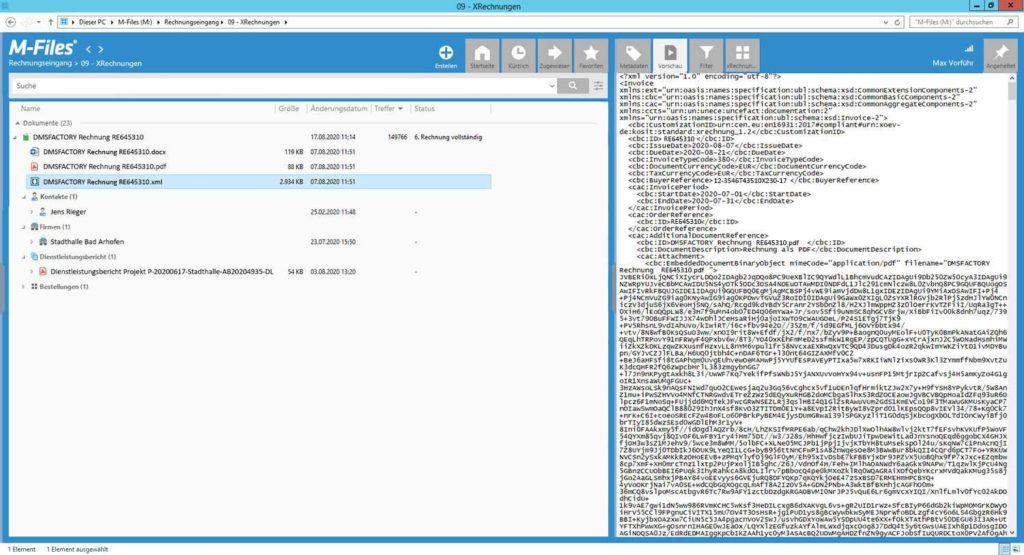 XRechnungsCreator XML-Datei