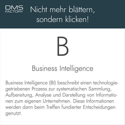 BI - Business Intelligence - Glossar