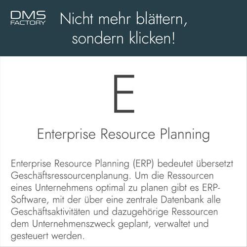 ERP - Enterprise Resource Planning - Glossar