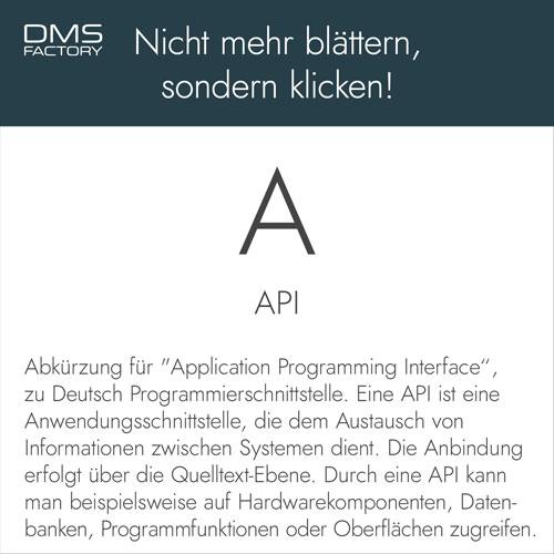 Glossar: API