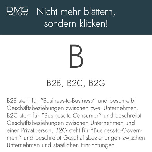 Glossar: B2B, B2C, B2G