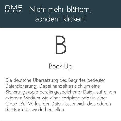 Glossar: Back-Up