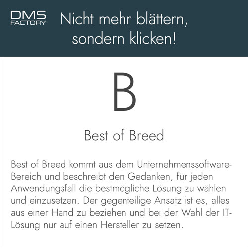 Glossar: Best of Breed
