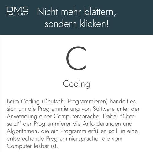 Glossar: Coding