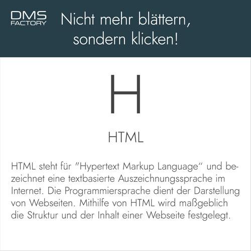 Glossar: HTML