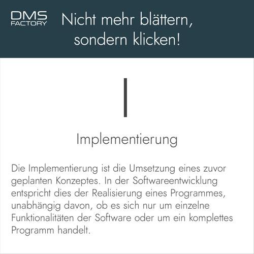 Glossar: Implementierung