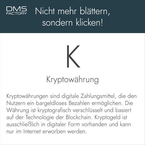 Glossar: Kryptowährung