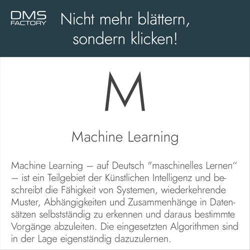 Glossar: Machine Learning