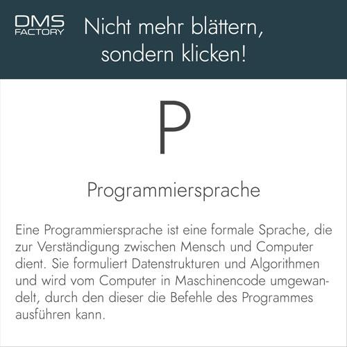Glossar: Programmiersprache