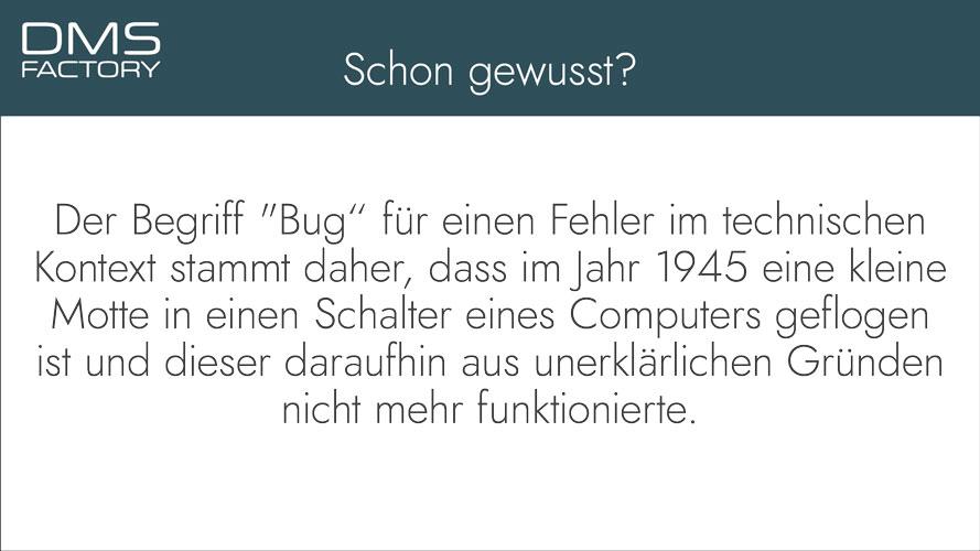 Schon gewusst - Bug
