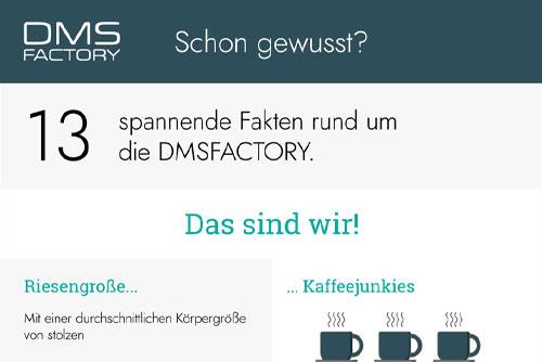 Teaser: Infografik - Über uns - Die DMSFACTORY
