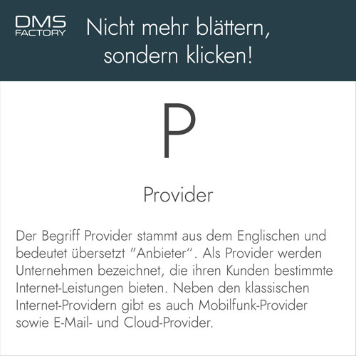 Glossar: Provider