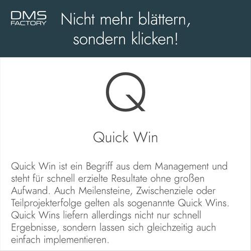 Glossar: Quick Win