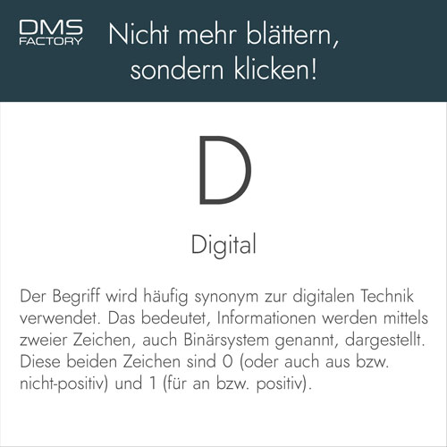Glossar: Digital