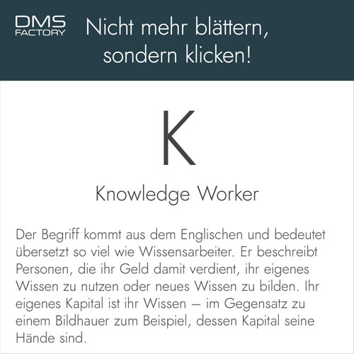 Glossar: Knowledge Worker