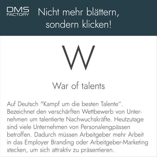 Glossar: War of talents