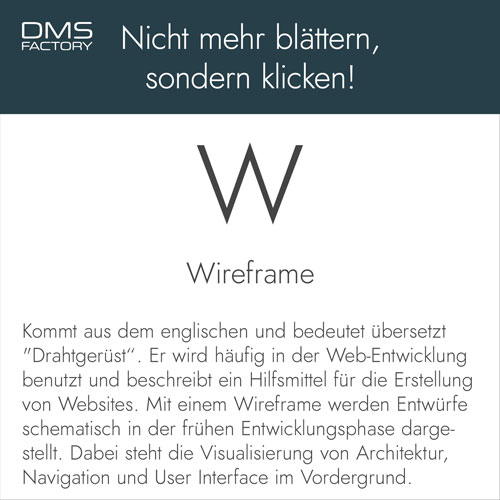Glossar: Wireframe