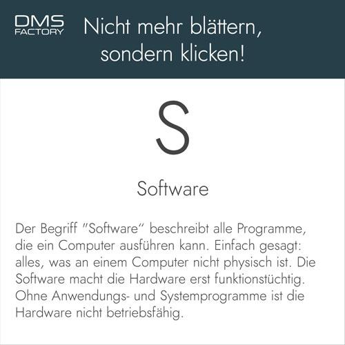 Glossar: Software