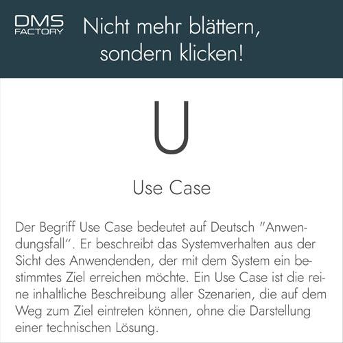 Glossar: Use Case