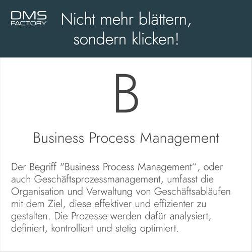 Glossar: Business Process Management (BPM)