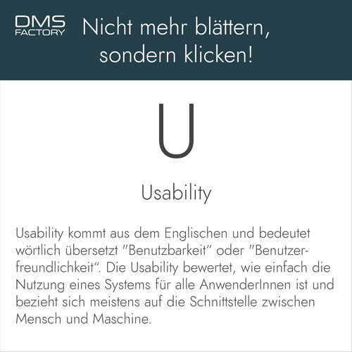 Glossar: Usability